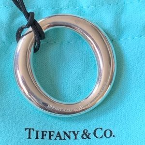 Tiffany & Co O Necklace w/Silk Black Cord